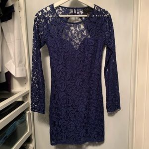 Royal blue h&M lace dress size 4